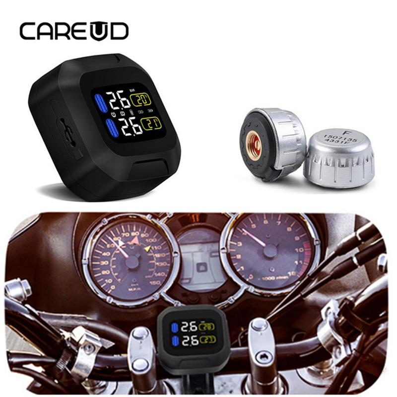 Careud Wireless Motorcycle Tpms Tire Pressure Monitoring