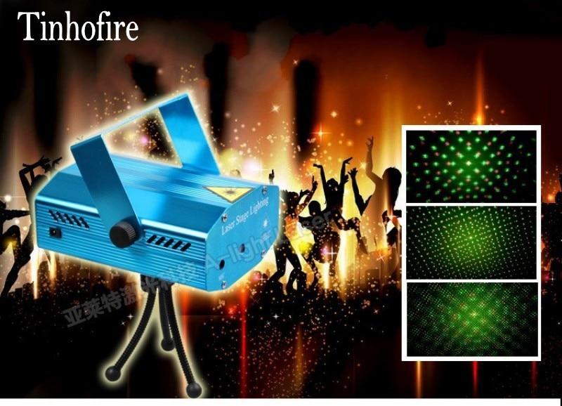 Tinhofire A-01 Mini LED Stage Light Lamp R&G Laser Projector Stage Lighting Sound Control DJ Disco Party Club KTV