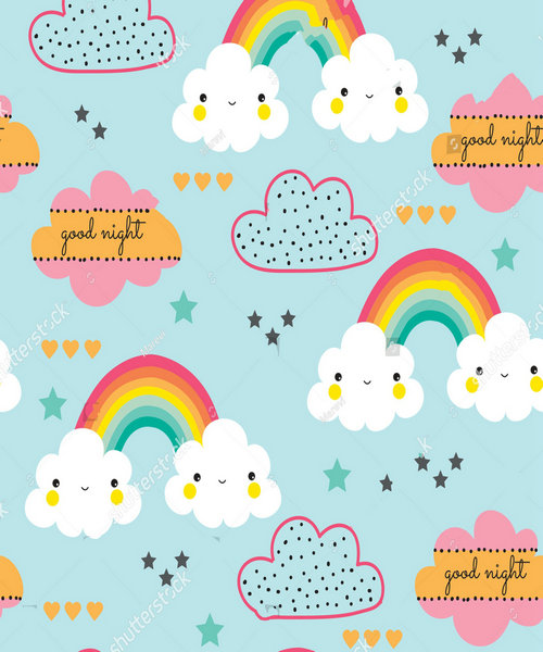 baby cloud colorful rainbow cloud background polyester or Vinyl cloth High quality Computer print wall backdrops