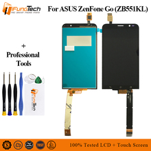 купить 5.5'' New A+ LCD for ASUS Zenfone Go TV ZB551KL LCD Display X013DB TD-LTE Touch screen with Frame Digitizer Assembly Replacement дешево