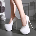 2017 Fashion Platform Pumps Sexy 16.5cm High Heels Women Platform Pumps New Wedding Party Shoes