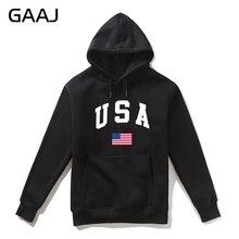 GAAJ アメリカアメリカ国旗男性パーカー女性カジュアルブランド 2019 新しい高品質男性 Felpe フリースパーカー綿コート