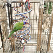 Grande papagaio brinquedos para arara cinza africano grande papagaio brinquedos corda suprimentos pássaro animal de estimação espiral escalada em pé poleiro t048