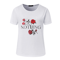 Nothing Street Fashion Slim Summer Basic T Shirt Women New Letter Print Casual Slim Women Tops