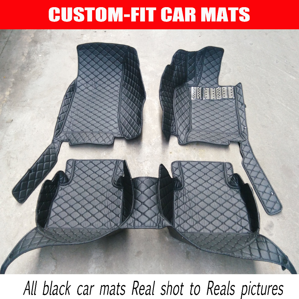 Custom fit car floor mats right hand drive for Hyundai I30 IX30 IX35 Elantra Santa Fe Sonata Tucson Accent Rohens car styling