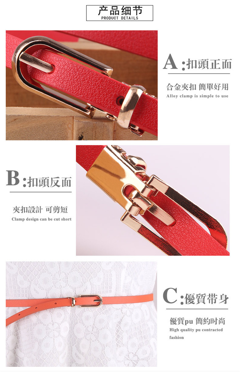 HTB1e9HsainrK1RjSsziq6xptpXaB - Women Faux Leather Belts Candy Color Thin Skinny Waistband Adjustable Belt Women Dress Strap cinturon mujer cinto feminino
