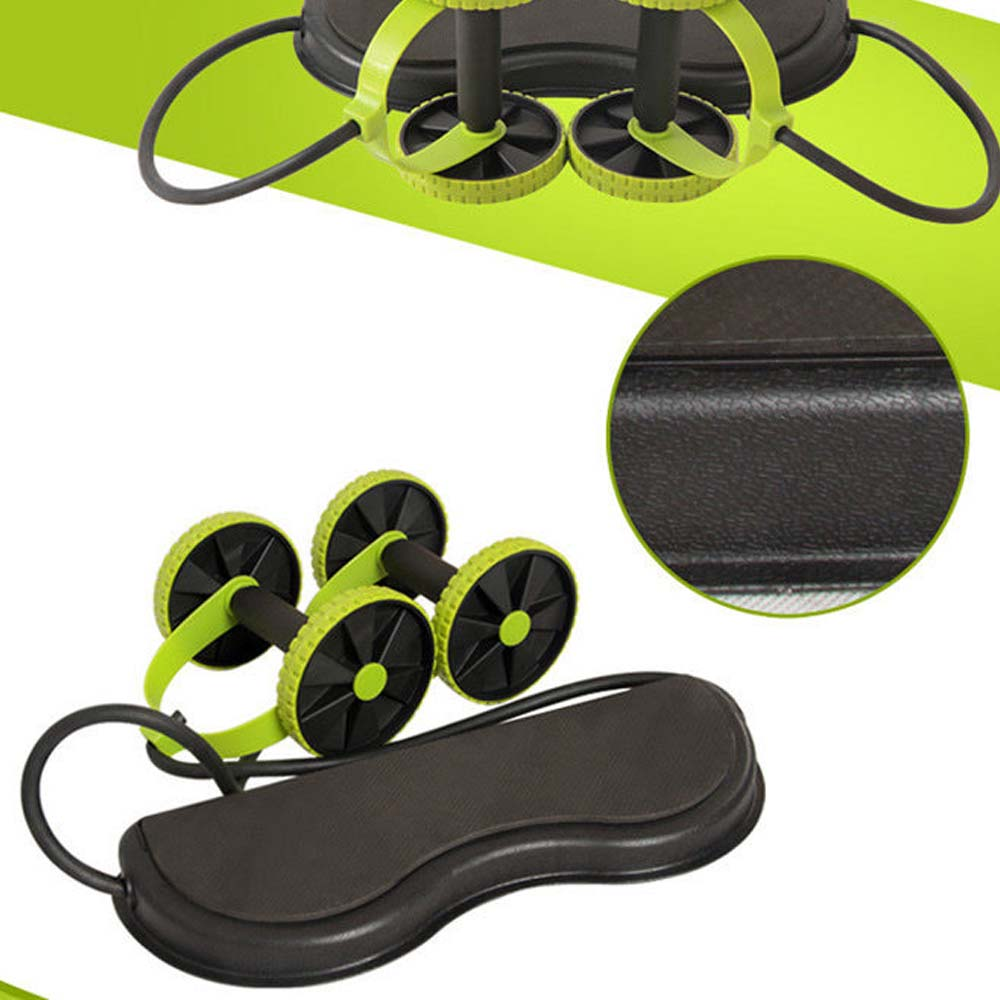 Household AB Wheels Roller Stretch Elastic Resistance Pull Rope Tool Abdominal Roller for Abdominal Muscle Trainer Exercise in Ab Rollers from Sports Entertainment