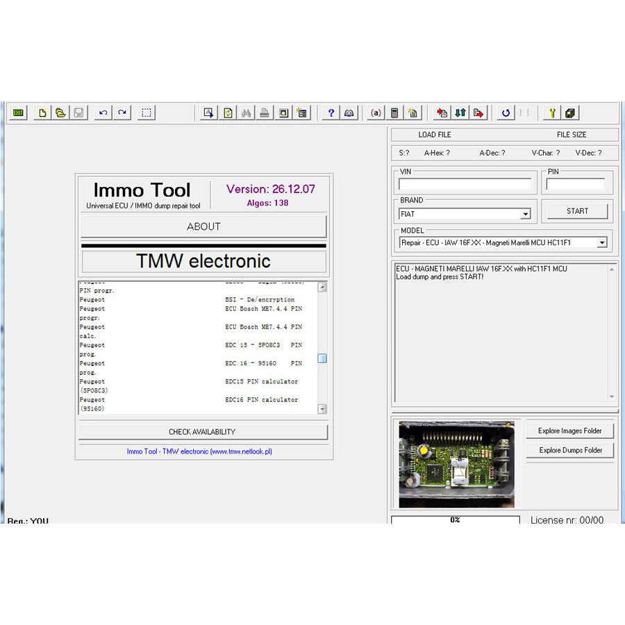 ECU Immo Tool Repair Software Immobilizer Software V26 12 2007 Free  Shippment