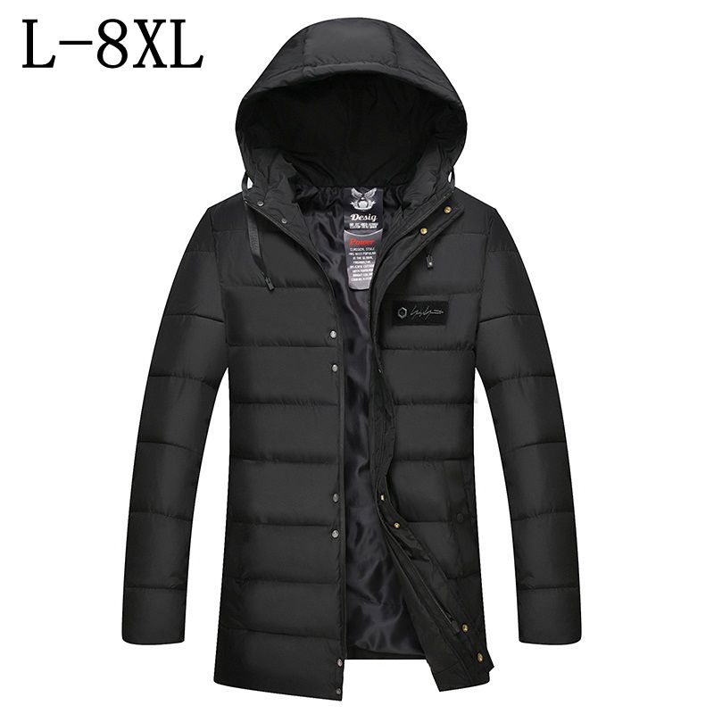 New Winter Jacket Men 2017 Brand Clothing Mens Jackets Men's Casual Coats Thick Parkas Men Outwear 7XL Hoodie Jacket