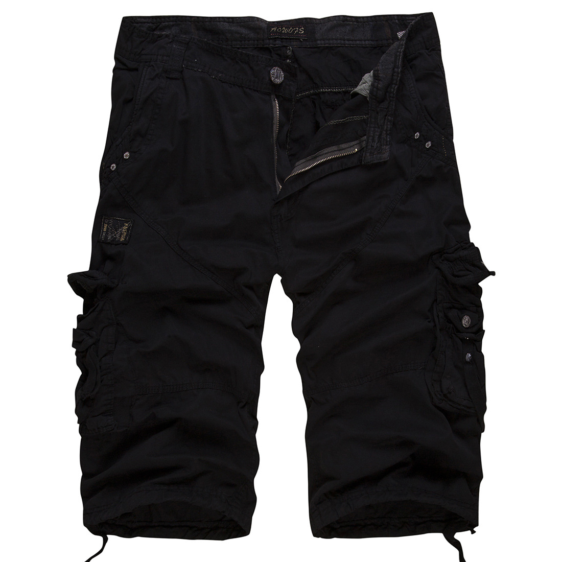 Cargo Pants Men Loose Trousers Summer Baggy Cargo Cotton Calf Length Plus Size Pants Cas ...