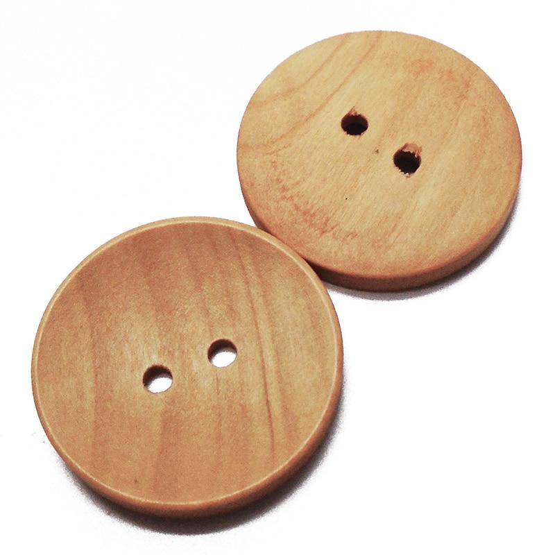 ZIEENE 2000 pièces bois Grain rond gros boutons en bois couleur naturelle 25mm 30mm couture bricolage Scrapbooking pour pardessus fait main 2 trous