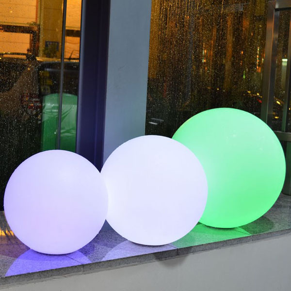 50cm induction charge 16 colors change remote control Night Lights waterproof ball led globe light best quality waterproof ip68 rgb multi color remote control induction charge led table light tubes