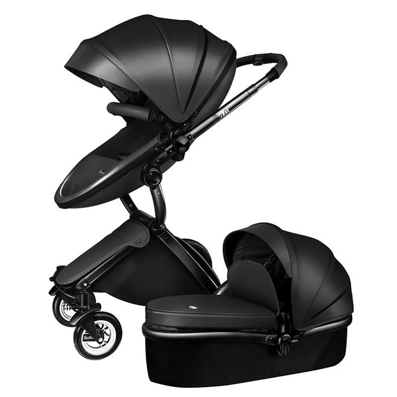 3 dans 1 bébé De Luxe poussette bébé chariots pour les nouveau-nés Peuvent s'asseoir et se coucher bébé poussettes
