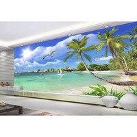 3d fondo de pantalla personalizado tela no tejida impermeable verano estilo hawaii diy pared papeles para paredes salón impresa mural bueno #91