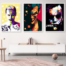 Elegant Poetry Batman Movie Anime Joker Art Portrait Canvas Painting Print Image Poster Wall Murals Children's Home Decoratio(China)