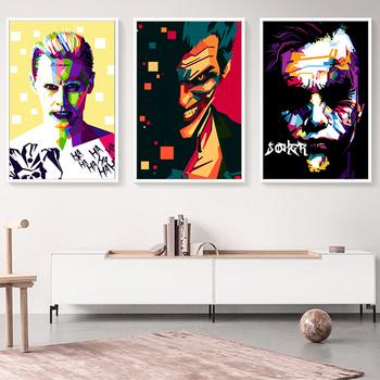 Elegancka poezja Batman Movie Anime Joker Art płótno portretowe malarstwo drukuj obraz plakat na ścianę malowidła dziecięce Home Decoratio tanie i dobre opinie Na płótnie Nowoczesne Elegant Poetry Malowanie natryskowe Pojedyncze Unframed Płótno wydruki Pionowe Prostokąta Gwiazda filmowa