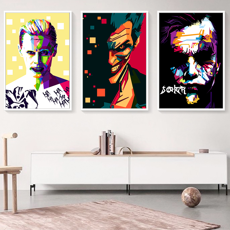 Elegant Poetry Batman Movie Anime Joker Art Portrait Canvas Painting Print Image Poster Wall Murals Children 39 s Home Decoratio in Painting amp Calligraphy from Home amp Garden