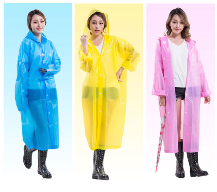 NOT Disposable EVA Environment Safety Raincoat With Hood For Men And Women/girls Outdoor Rainwear Waterproof Poncho
