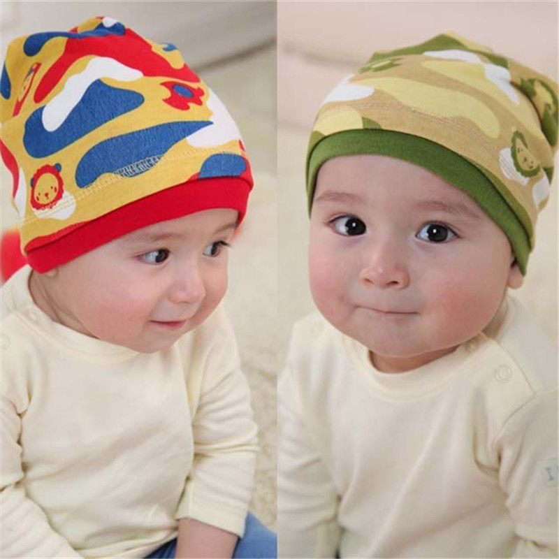 3pcs/Lot Spring Autumn Warm Cotton Baby Hat Girl Boy Toddler Infant Kids Caps Brand Candy Color Lovely Baby Beanies Random style