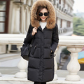 16cm Large Natural Real Raccoon Fur 2016 Winter Coat Women Thickening Parka For Winter Jacket Women White Duck Down Parkas