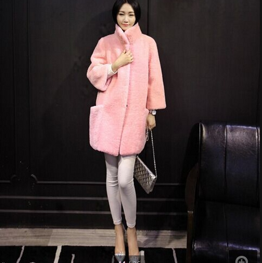 Australia Merino Sheep Fur Long Coat Women Sheepskin Coats ...