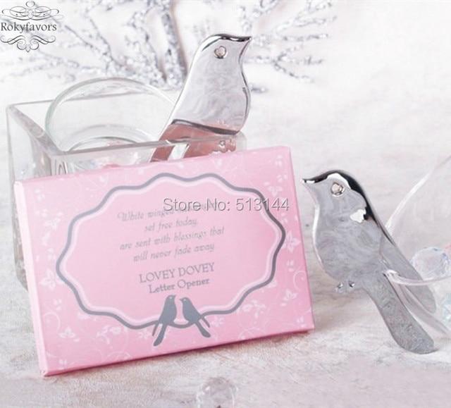 Free Shipping 50pcs Dove Design Letter Opener Favors Engagement