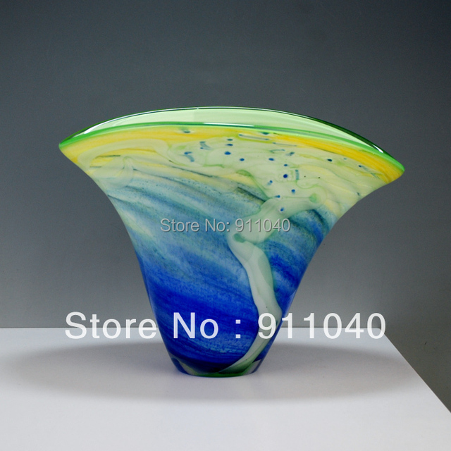 Large Colored Art Glass Vases Wholesale In Vases From Home Garden