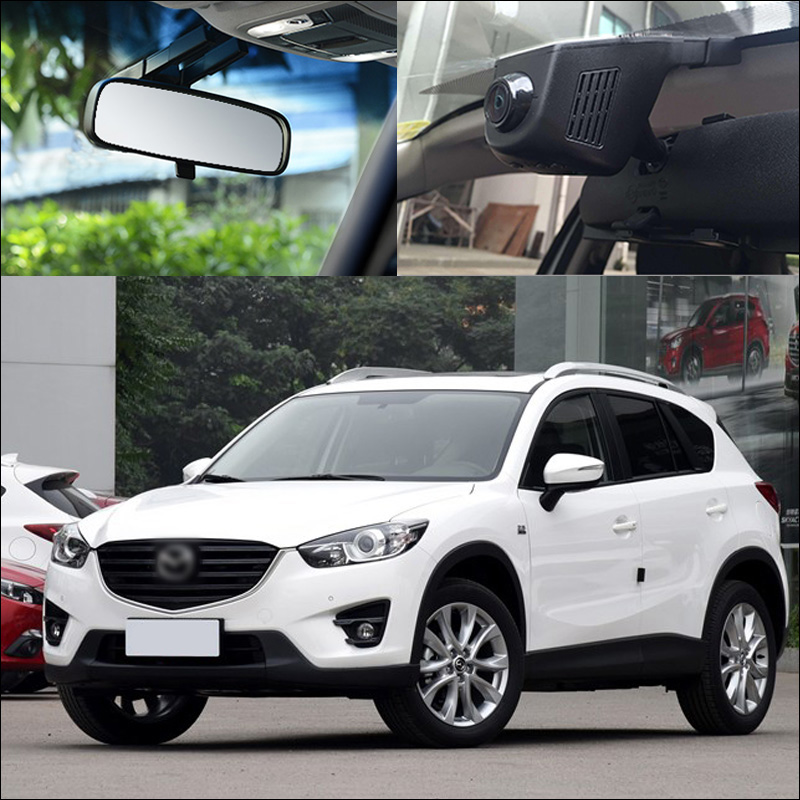 BigBigRoad For Mazda CX-5 CX5 2 5 6 8 3 323 Axela CX-4 CX-7 RX-8 ATENZA Car Wifi DVR Video Recorder Dash Cam Car Black Box bigbigroad for nissan qashqai car wifi dvr driving video recorder novatek 96655 car black box g sensor dash cam night vision