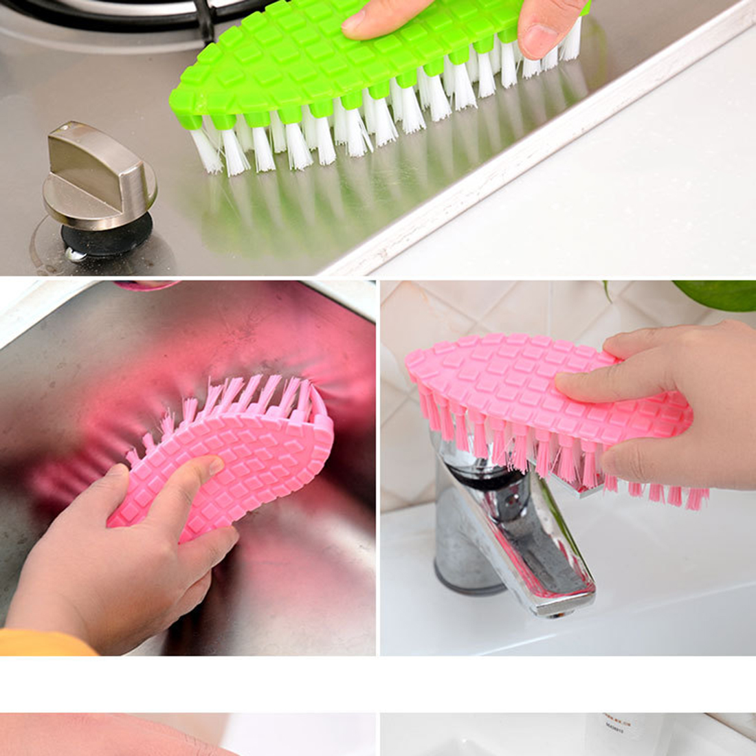 Fashion High Quality Flexible Household Washing Tools Cleaning Brusher For The Kitchen Tile Floor Bathroom