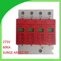 60KA 420v 4 pole 3p+N 60A SPD Household Surge Protector Protective Low voltage Arrester Device Surge Protective Device