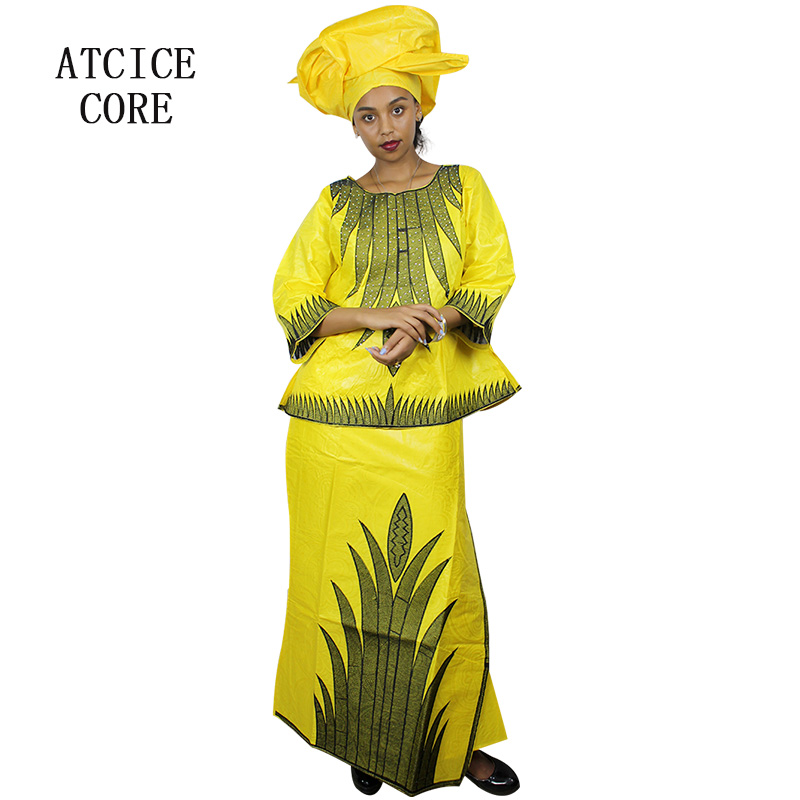 African Dresses For Women Free Shipping New Fashion Design African Bazin Riche Embroidery Short Rapper African Clothes Buy One Give One