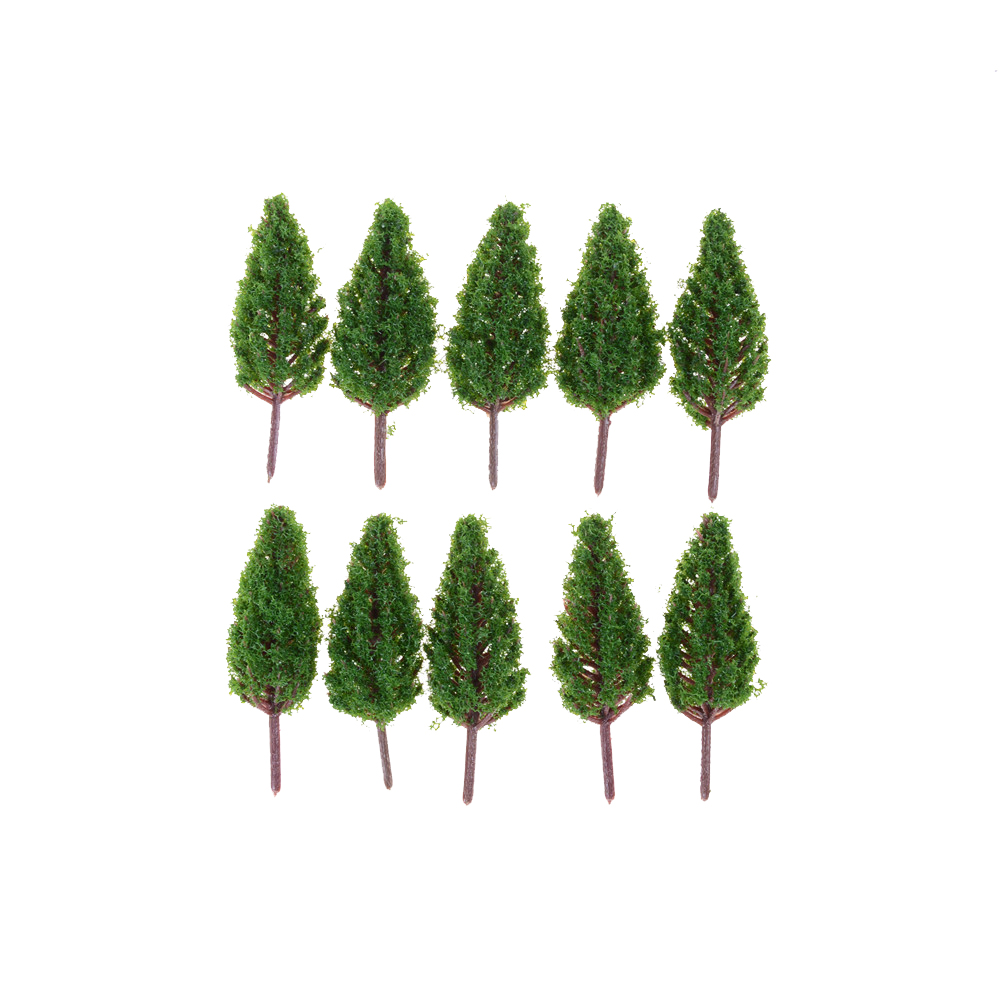 Plastic Model Trees 68mm For Railroad House Park Street Layout Green Landscape Scene Scenery High Quality 10pcs/Set