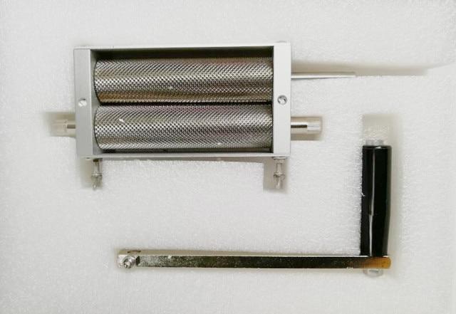 Stainless Steel Manual Malt Grain Grinder Homebrew Malt Mill Machine Two Rollers Barley Crusher Grinder with Hopper
