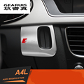 Stainless steel interior car keyhole decorative cover trim S,S line logo emblem car accessories Chrome 3D sticker for Audi A4 A5