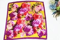 2105ใหม่แฟชั่นผ้าพันคอผ้าไหม100%ผ้าไหมสไตล์จีนตารางผ้าพันคอผ้าคลุมไหล่ลายดอกไม้ฮิญาบสำหรับ...