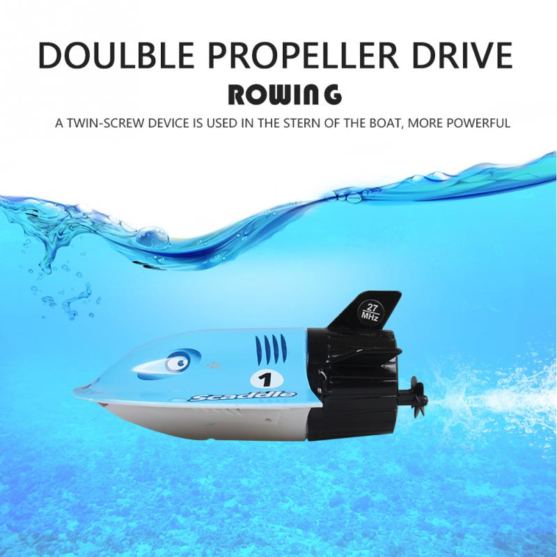 Great Toys 3314M 2.4GHZ High Speed Mini Rechargable Electric Sport RC Boat Devil Fish Submarine Outdoor Water Kids Toys