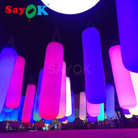 5 Feet Long Inflatable Lighting Pillar Column PVC Tapping Touch Tube Pat to Change Color Interactive LED Toy Advertising Party