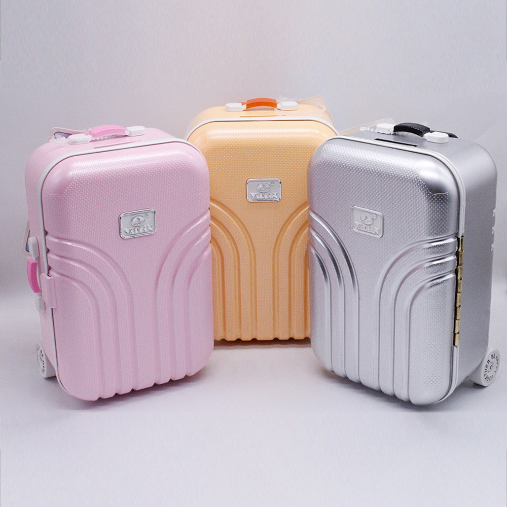 2019 New Dolls Travel Suitcase Pink Silver Suitcase For 18 Inch Girl Kids Doll Accessories