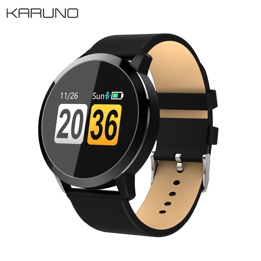 KARUNO Q8 Fitness Smart Watch LED Color Screen Smart Bracelet Men Fashion Fitness Tracker Heart Rate Monitor for Ios AndroidKARUNO Q8 Fitness Smart Watch LED Color Screen Smart Bracelet Men Fashion Fitness Tracker Heart Rate Monitor for Ios Android