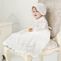 Baby Girl Dress Baptism Dresses for Girls 1st year birthday party wedding Christening infant clothing bebes white long dress