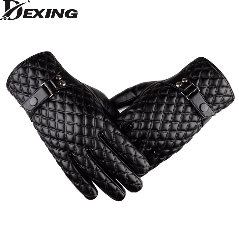 Black winter gloves men