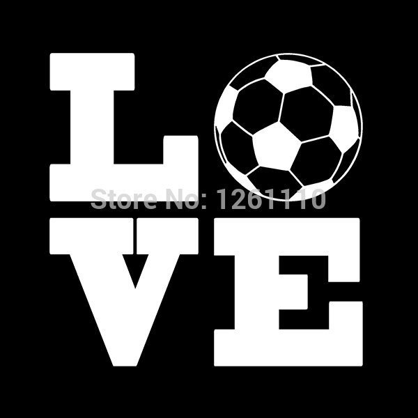 Love soccer ball sports vinyl decal sticker for car truck suv window bumper on aliexpress com alibaba group