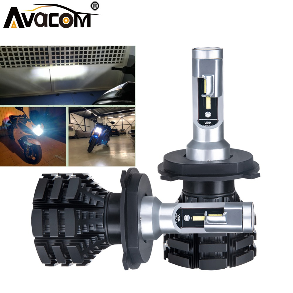 avacom 2 pieces h4 led motorcycle headlight bulbs led hs1. Black Bedroom Furniture Sets. Home Design Ideas