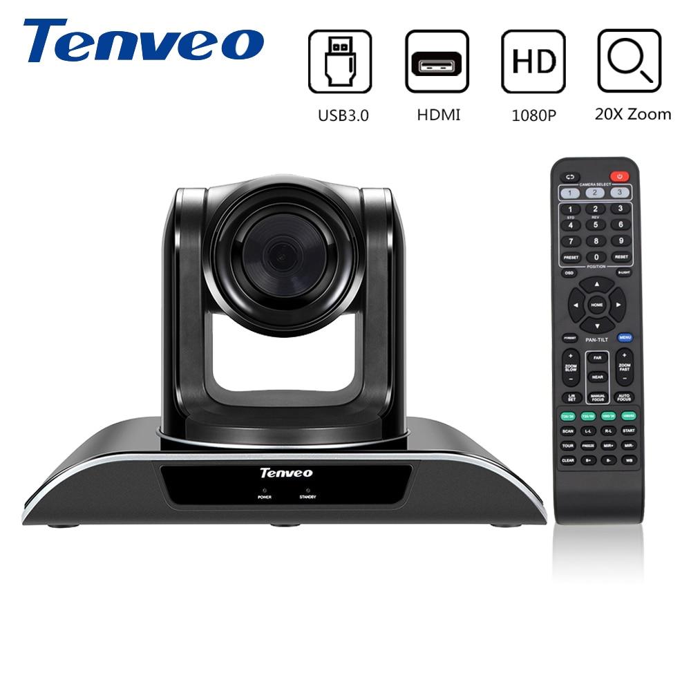 Tenveo VHD203U 1920x1080 Videocamera Full HD PTZ TELECAMERA di Video Chiamata e la carta di Registrazione con 20X Zoom USB 3.0 Uscita HDMI flusso di Webcam