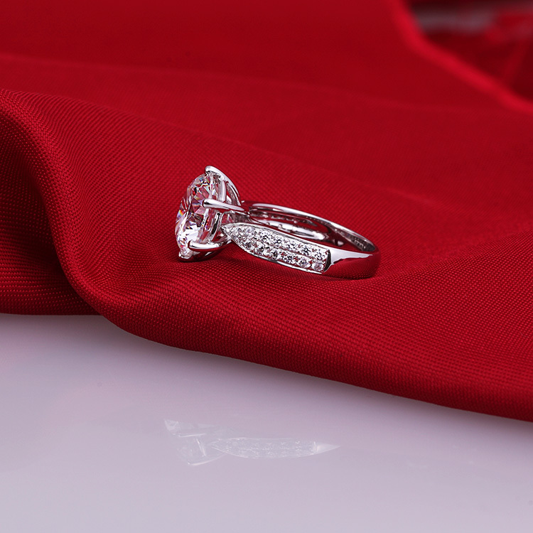 2 carat high end ceremony lovers finger ring SONA synthetic fashion ring 925 sterling silver ring (DFE)