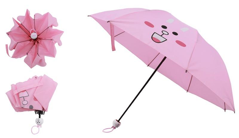 Creative Cute Cartoon Bear Rabbit Totoro Villain Children Umbrella 3 Folding Pongee Windproof Rain Umbrella For Kids14