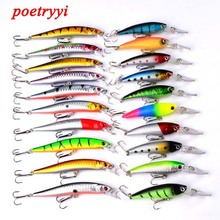20Pcs Fishing Lures Set Topwater Carp Fishing Baits Kit Suit To Go For Sale Artificial Hard Baits Minnow Suitable For Most Fish