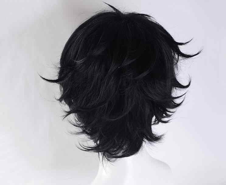 Persona 5 Джокер косплей волос черные короткие синтетические волосы косплей парик для Хэллоуина унисекс