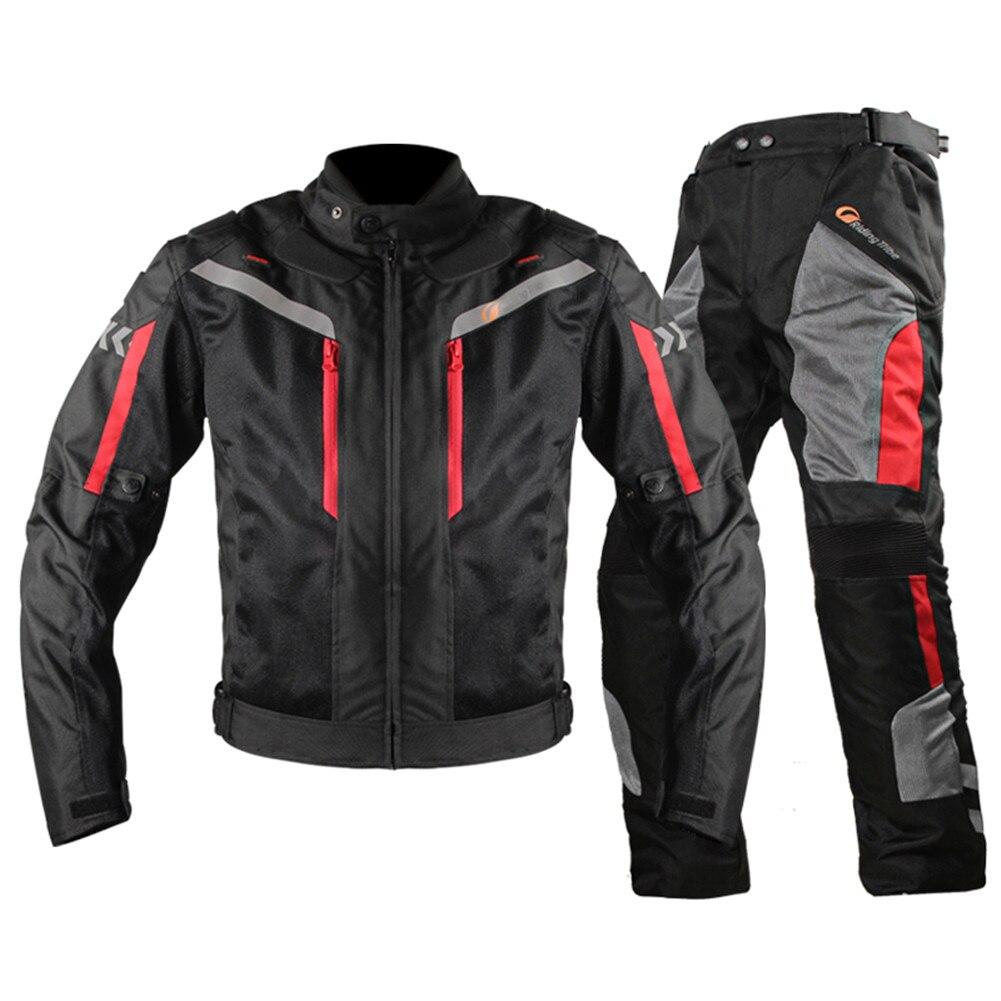 2017 veste de Moto pantalon costume Chaqueta Moto Jaqueta Motoqueiro Blouson Moto Protection engrenages vêtements armure Motocicleta JK40