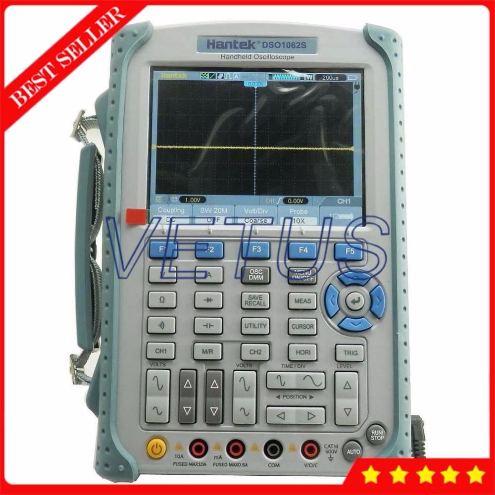 Hantek DSO1062S Portable Handheld Oscilloscope with digital Isolated osciloscopio 60MHz 2 Channel digital multimeter Price dhl ems ni scxi 1162 assy 182235 01 rev a 32 channel optically isolated digital input c3 d9